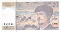 France 20 Francs Debussy - 1990 Serial E.027 - UNC
