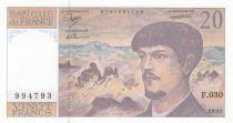 France 20 Francs Debussy - 1990 Série F.030 - Neuf
