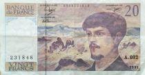 France 20 Francs Debussy - 1991 Serial A.032 - VF