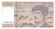 France 20 Francs Debussy - 1992 - Série G.035