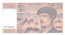 France 20 Francs Debussy - 1992 Série B.037 - SPL+