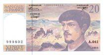 France 20 Francs Debussy - 1993 - Série A-041