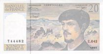 France 20 Francs Debussy - 1993 Serial E.042 - aUNC