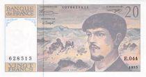 France 20 Francs Debussy - 1993 Serial E.044 - aUNC