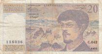 France 20 Francs Debussy - 1993 Série C.042