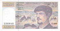 France 20 Francs Debussy - 1993 Série E.039 - P.NEUF