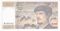 France 20 Francs Debussy - 1993 Série E.045 - P.NEUF
