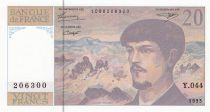 France 20 Francs Debussy - 1993 Série Y.044 - Neuf