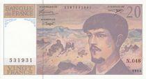France 20 Francs Debussy - 1995 - Série N.048