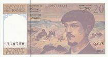 France 20 Francs Debussy - 1995 - Série Q.048