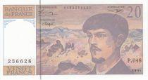France 20 Francs Debussy - 1995 Serial P.48