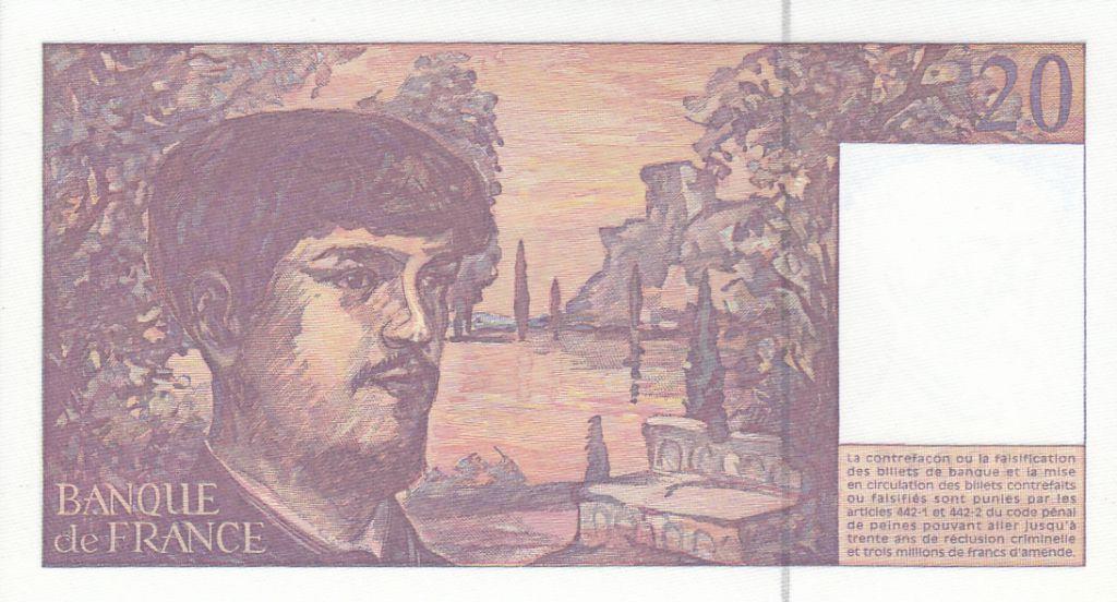 France 20 Francs Debussy - 1997 - Serial B.054