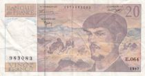 France 20 Francs Debussy - 1997 - Serial E.064 - VF