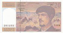 France 20 Francs Debussy - 1997 - Serial H.054