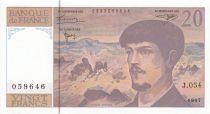 France 20 Francs Debussy - 1997 - Serial J.054