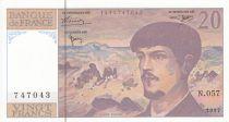 France 20 Francs Debussy - 1997 - Serial N.057