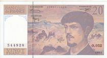France 20 Francs Debussy - 1997 - Serial O.052
