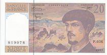 France 20 Francs Debussy - 1997 - Serial P.056