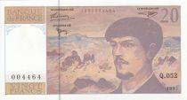 France 20 Francs Debussy - 1997 - Serial Q.052