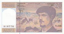 France 20 Francs Debussy - 1997 - Serial V.056