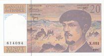 France 20 Francs Debussy - 1997 - Serial X.051