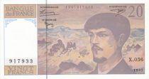 France 20 Francs Debussy - 1997 - Serial X.056