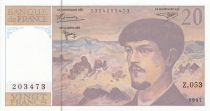 France 20 Francs Debussy - 1997 - Serial Z.053