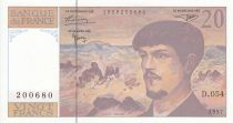 France 20 Francs Debussy - 1997 - Série D.054