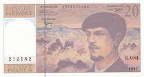 France 20 Francs Debussy - 1997 - Série E.054