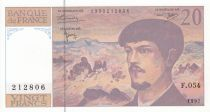 France 20 Francs Debussy - 1997 - Série F.054