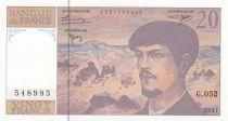 France 20 Francs Debussy - 1997 - Série G.052