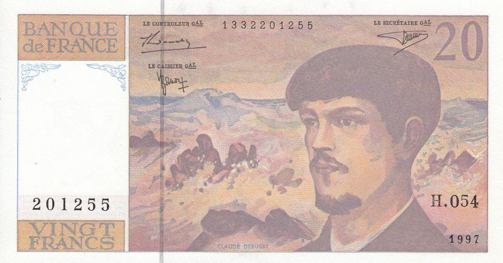 France 20 Francs Debussy - 1997 - Série H.054