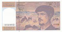 France 20 Francs Debussy - 1997 - Série J.052