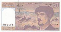France 20 Francs Debussy - 1997 - Série K.056