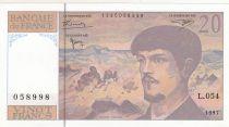 France 20 Francs Debussy - 1997 - Série L.054