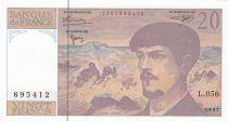 France 20 Francs Debussy - 1997 - Série L.056