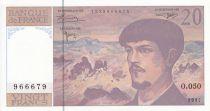 France 20 Francs Debussy - 1997 - Série O.050