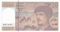 France 20 Francs Debussy - 1997 - Série S.059