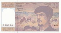 France 20 Francs Debussy - 1997 - Série T.051