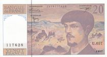 France 20 Francs Debussy - 1997 - Série U.057