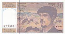 France 20 Francs Debussy - 1997 - Série V.051