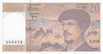 France 20 Francs Debussy - 1997 - Série Z.053