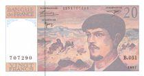 France 20 Francs Debussy - 1997 Serial B.051 - aUNC