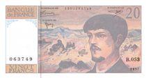 France 20 Francs Debussy - 1997 Serial B.053 - AU+