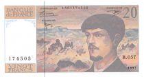 France 20 Francs Debussy - 1997 Serial B.057 - aUNC