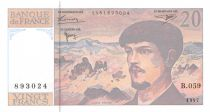 France 20 Francs Debussy - 1997 Serial B.059 - UNC