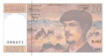 France 20 Francs Debussy - 1997 Serial B.061 - aUNC