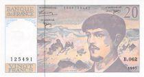 France 20 Francs Debussy - 1997 Serial B.062 - AU+