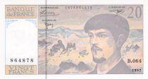 France 20 Francs Debussy - 1997 Serial B.064 - aUNC