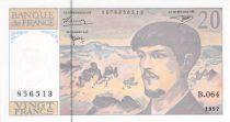 France 20 Francs Debussy - 1997 Serial B.064 - UNC